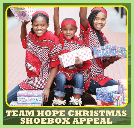Image result for team hope shoebox appeal